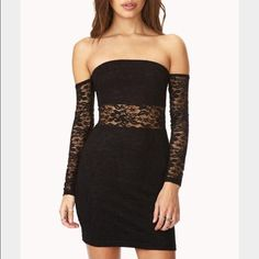 Black lace dress! Perfect for the holidays or a night out! Still has the tags! Forever 21 Dresses Mini