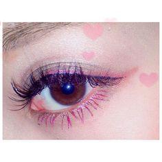 「目ヂカラ&個性がぐんっとUP♡ カラーマスカラが主役の旬顔メイク見本帳」に含まれるinstagramの画像|MERY [メリー]