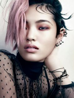 PUNK INSPIRED BEAUTY ACCESSORIES JEWELRY EDITORIAL VOGUE JAPAN THE DESTINY OF PUNK Model: Chiharu Okunugi Photographer: David Slijper Styled...