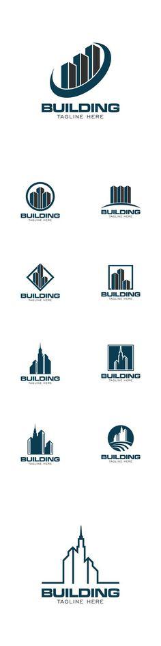 Vector Building Concept Logo Design Template
