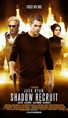 "Jack Ryan: Shadow Recruit (2014) | This isn't an action movie. Don't know why Kenneth Branagh tried to show it as one. ""Problem with the tone"", as George Clooney says. No problems with the script."