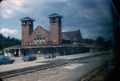 1970 Orig Slide - GTW Grand Trunk Western Depot Battle Creek MI Michigan (154)