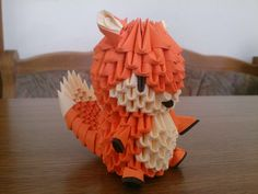 3D Origami Fox by Chlochlo1895.deviantart.com on @DeviantArt