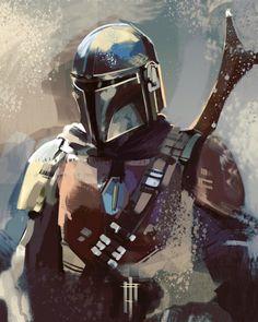 Star Wars Art, Star Trek, Mandalorian Cosplay, Mandalorian Poster, Graphisches Design, Star Wars Wallpaper, Love Stars, Star Wars Characters, Boba Fett
