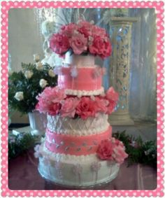 My Latest Cake 4 Tiered Buttercream Quinceanera Cake With