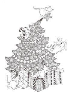 Zentangle Made By Mariska Den Boer 85 Patterns Christmas Cards