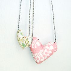Jackie Peppermint Handmade Etsy Craft Jewellery Jewelry Stitched Fabric Hearts
