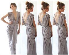 4 Bridesmaids dresses Taupe grey dress  Maxi by BLUSHFASHION, $583.00