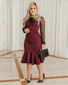 Plus size outfits Curvy Girl Outfits, Girly Outfits, Unique Outfits, Beautiful Outfits, Plus Size Outfits, Trendy Outfits, Business Professional Dress, Professional Dresses, Modest Fashion