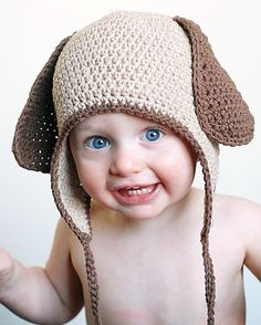 Doggy Earflap Crochet Hat Pattern Permission to by adrienneengar, $4.99