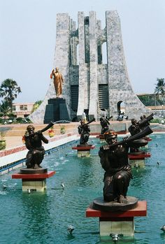 Nkrumah Memorial in Accra, Ghana. Beautiful when I was there the pools were empty....stunning!