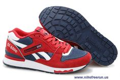 5756cc6ad226f New Reebok GL 6000 Red Navy White Men s Running Shoes Red Reebok