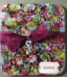 Alcohol Ink Coasters, great gift idea!