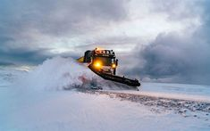 Download wallpapers snow-clearing equipment, snow removal, Scania, snow removal truck, snow-covered road, concepts