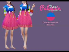 """zauma:  """" TS4 D.va Palaquin • Conversion from Overwatch by me.  • No morphs.  • Only 1 color.  • Cas preview.  •  DOWNLOAD (simfiles)  • Feel free to recolor but pls dont include the mesh!  Enjoy!  """""""