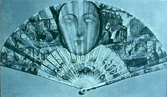 """The French designed a fan with glass, or gauze-covered peepholes, such as this one, which allowed ladies to view a scandalous play. """"A lady hardly knows whether to blush or hide behind her fan! Antique Fans, Vintage Fans, 17th Century Fashion, 18th Century, Fan Decoration, Perfume Bottles, Hand Fans, Rococo, Exhibit"""
