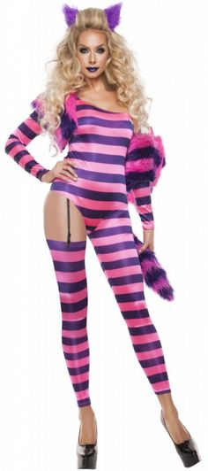 2020 Starline Women's Trippy Kitty Jumpsuit Sexy 5 Piece Costume Set and more Animal Costumes for Women, Cat Costumes for Women, Women's Halloween Costumes for Fairy Tale Costumes, Cat Costumes, Adult Costumes, Costumes For Women, Costume Ideas, Group Costumes, Cheshire Cat Costume, Kitty Costume, Unique Halloween Costumes
