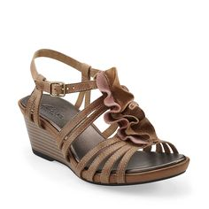 987af0d9682 Lucia Resort in Brown Multi Leather - Womens Sandals from Clarks Cute  Sandals