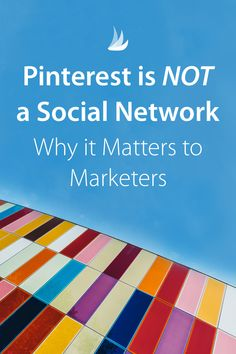 Pinterest is NOT a social network - why this matters to marketers. Knowing how Pinners use Pinterest is your key to success. Here's a look at what it really IS and how you can tap into its strengths to promote your business.#pintereststrategy #pinterestmarketing #pinteresttips via @tailwind Business Marketing, Online Marketing, Social Media Marketing, Online Business, Digital Marketing, Affiliate Marketing, Instagram Schedule, Google Plus, Pinterest For Business