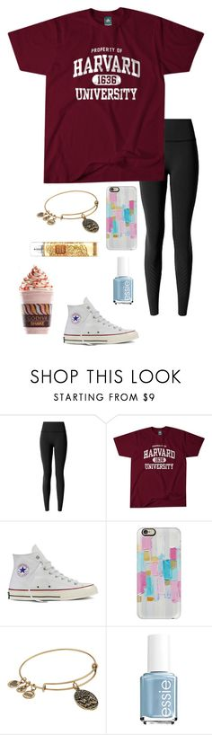 """School starts tomorrow "" by eadurbala08 ❤ liked on Polyvore featuring lululemon, Converse, Casetify, Alex and Ani, Essie and Godiva"