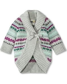 This cute and cozy cardigan sweater will keep your toddler warm all winter long. Click above to buy one.
