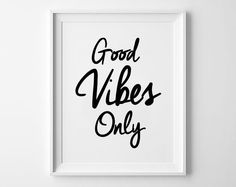 Good vibes only minimal poster #minimal #good #vibes #quote