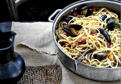 Gojee - Pasta With Chorizo And Mussels Recipe by Food Republic