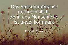 Das Vollkommene ist unmenschlich, denn das Menschliche ist unvollkommen. ... gefunden auf https://www.geheimekraft.de/spruch/15