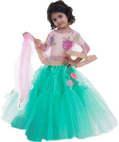 Buy ethnic wear,chaniya choli online,chaniya choli for kids Online @ from ShopClues Chaniya Choli For Kids, Chaniya Choli Designer, Garba Chaniya Choli, Garba Dress, Kids Lehenga Choli, Baby Girl Lehenga, Choli Pattern, Dandiya Dress, Kids Ethnic Wear