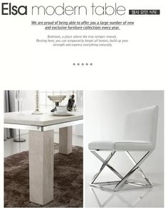 Elsa table and chair.