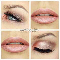 Have you guys seen this fresh summer makeup? Tutorial up now! Eyeshadows are a mixture of @maccosmetics Tan pigment & #jordana single eyeshadows. Lashes are @lashrepublic 'Lady Caviar' & lipstick is @rimmellondonau 'Notting Hill Nude' - my new fave!