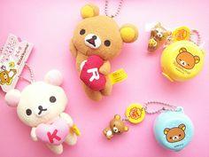 Kawaii San-x Character Rilakkuma Mascot & Chupa Chups Case Cute