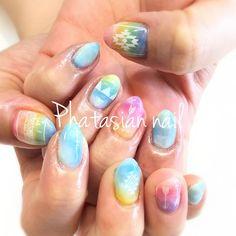phatasian_nail沖縄石垣島tripネイル♪ とても仲良し姉妹の妹さんネイルです。 カラフルにキャンドルカラーネイルです!