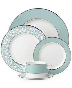 brian gluckstein by lenox dinnerware clara aqua collection - Lenox Dinnerware