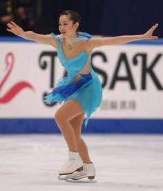 Shizuka Arakawa  Bluel hued Figure Skating / Ice Skating dress inspiration for Sk8 Gr8 Designs