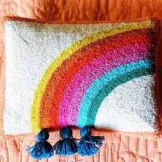 Punch Needle Patterns, Art Diy, Rug Hooking, Pillow Set, One Color, Justina Blakeney, Rain Bow, Textiles, Crafty