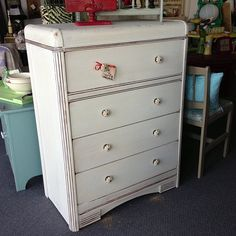 White chalk paint distressed  SOLD!