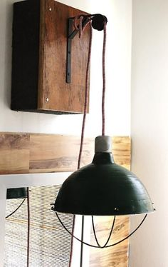 Made from a Home Depot lamp: Marcus & Cooper's Vintage Military Room — Kids Room Tour