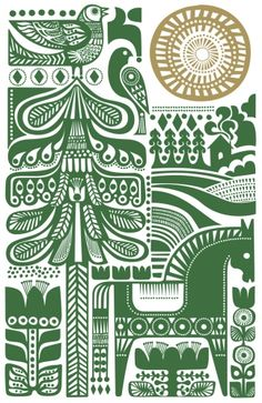 Sanna Annukka Illustration – the boldness of scandinavian folk art/revival is so suited to tattooage, imo! Illustration Inspiration, Art Et Illustration, Winter Illustration, Character Illustration, Scandinavian Pattern, Scandinavian Folk Art, Impression Textile, Doodles Zentangles, Motif Floral