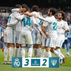 Real Madrid 3-2 Málaga  9' @Benzema  18' D. Rolan  21' @Casemiro  58' Chory  76' @Cristiano #RMLiga #HalaMadrid