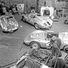 Porsche 356-550-RSK-Speedster-Spyder : Photo Le Mans 1958