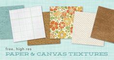 Free, high res paper and canvas textures #free #printables