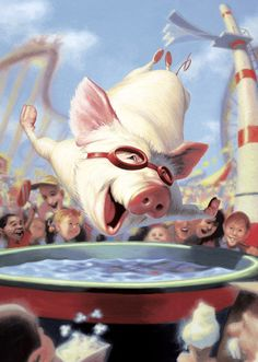 There's something about a happy pig... James Bennett's illustrations and characatures are fantastic