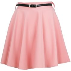 Blush High Waisted Skater Skirt ($16) ❤ liked on Polyvore featuring skirts, bottoms, saias, faldas, red skirt, high waisted denim skirt, floral pencil skirt, high-waist skirt and pleated skirt