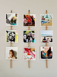 Great DIY project to create a gallery wall for your Instagram prints and change them out as you please. - By Rachel Denbow
