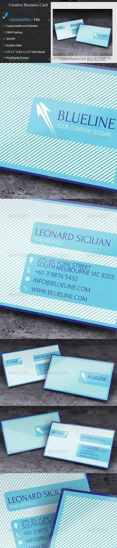 Creative Business Card – BlueLine