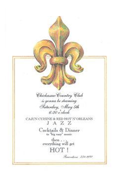 Fleur De Lis Invitation from Odd Balls
