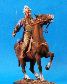 Богатый сарацин с саблей на коне - 12-13 вв  ММС