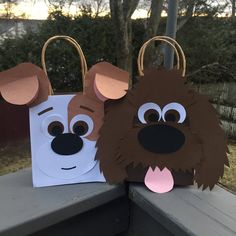 Set of 16 Dog Gift Bags / Doggie Bags / Puppy Party by LoveMischka