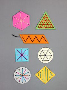DIY Easy Sewing Cards To Develop Fine Motor Skills | Kidsomania